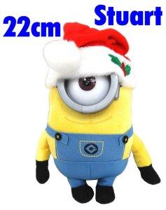 Minions Film Minion Stuart X Mas Plüsch Figur Blaue Hose Pvc Brille