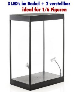 Acryl Display Case 1/18 1:6 Action Figuren Hot Toys LED Licht Plexiglas Vitrine