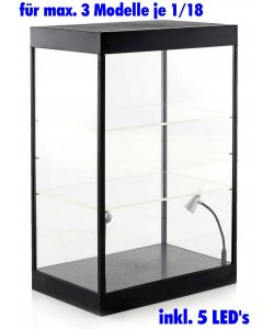 Acryl Display Case 1/18 3 Modelle Hot Toys 1:6 Action Figur LED Plexiglas Vitrine