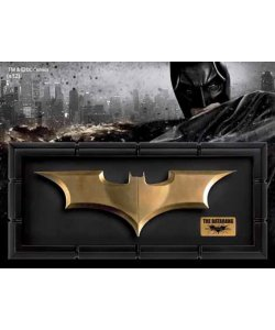 Batman The Dark Knight Rises Replik 1:1 Batarang gold Movie Prop Life Size