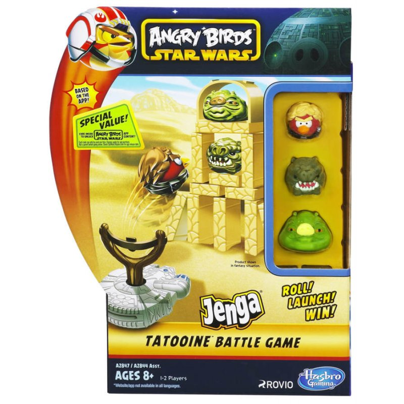 angry birds star wars jenga launchers tatooine spiel. Black Bedroom Furniture Sets. Home Design Ideas